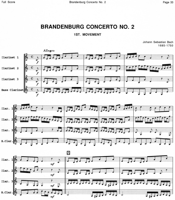 Full Score for Clarinet Quartet Collection