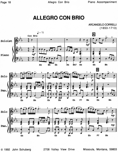 Piano Accompaniments for Solo Collections