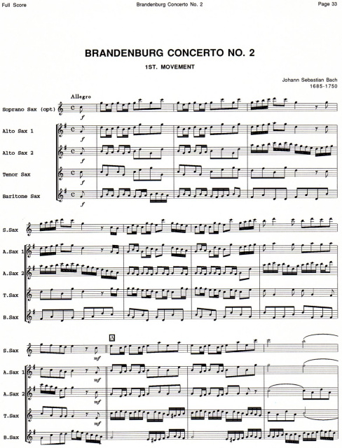 Full Score for Saxophone Quartet Collection
